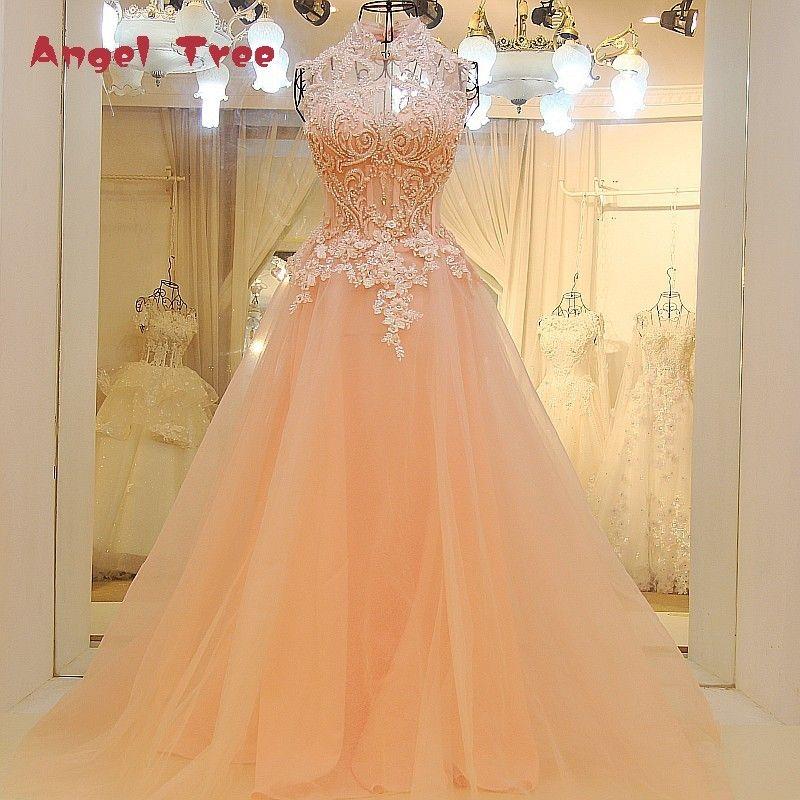 Angel Tree Custom Made Sleeveless Wedding Dresses Appliques Crystal Flowers Simple Bridal Gowns Vestido de Noiva 2018 New
