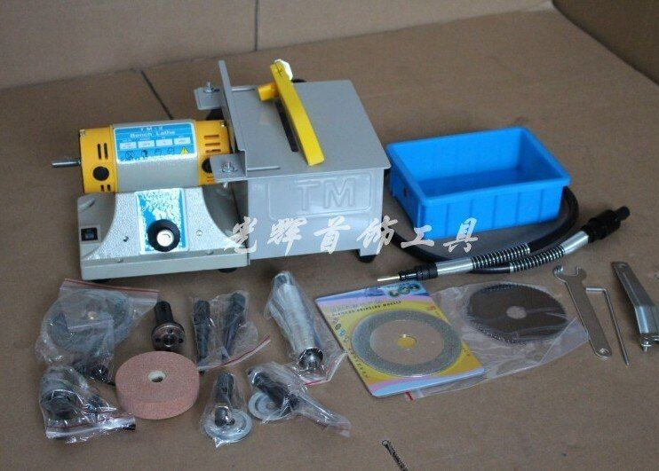 Polishing Motor Set Multifunctional Desk Cutting Grinding Polishing Carving Machine Jade Wood Nuclear Full Function Engraving