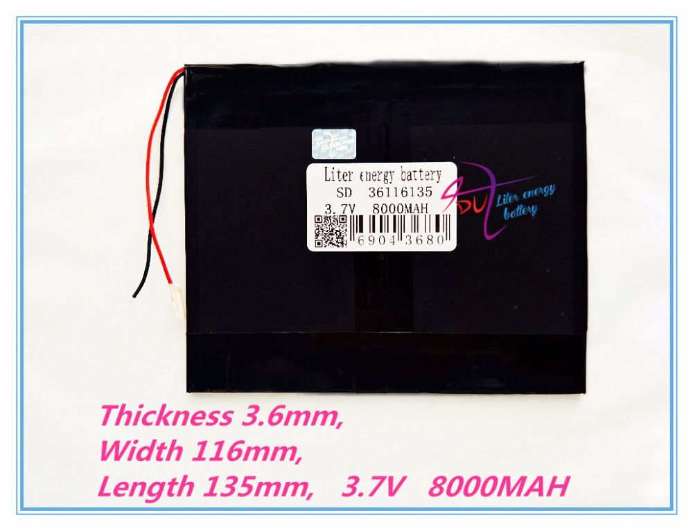 36116135 Tablet PC battery capacity 3.7V 8000mA 8 inch 9inch 10 inch each brand tablet universal rechargeable lithium batteries