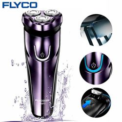 FLyco FS372RU Electric Shaver with IPX 7 Level Waterproof Automatic Grinding Razor LED Charging Display Shaving machine for Men