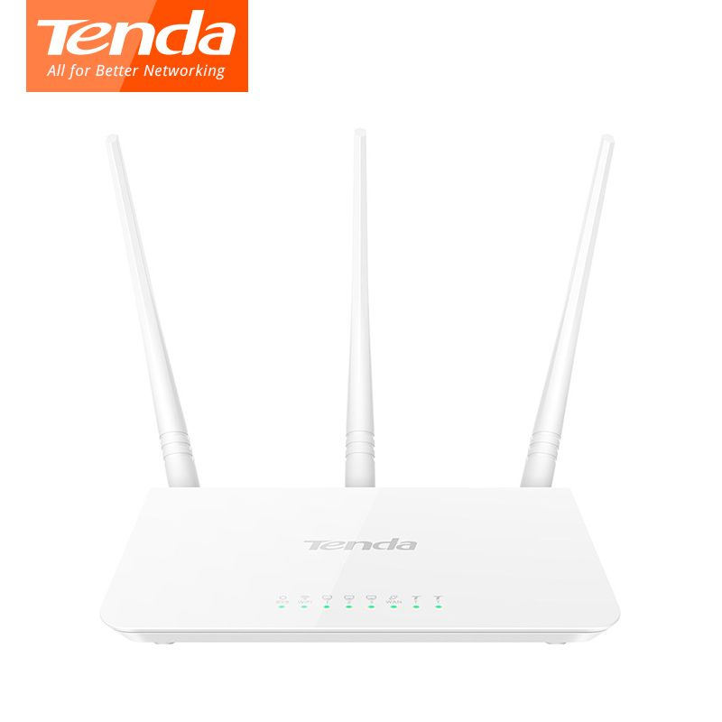 WiFi Tenda F3 wireless Router 300Mpbs 3*Antenna 200 Square Meters Signal Of Coverage Wireless Router English Firmware