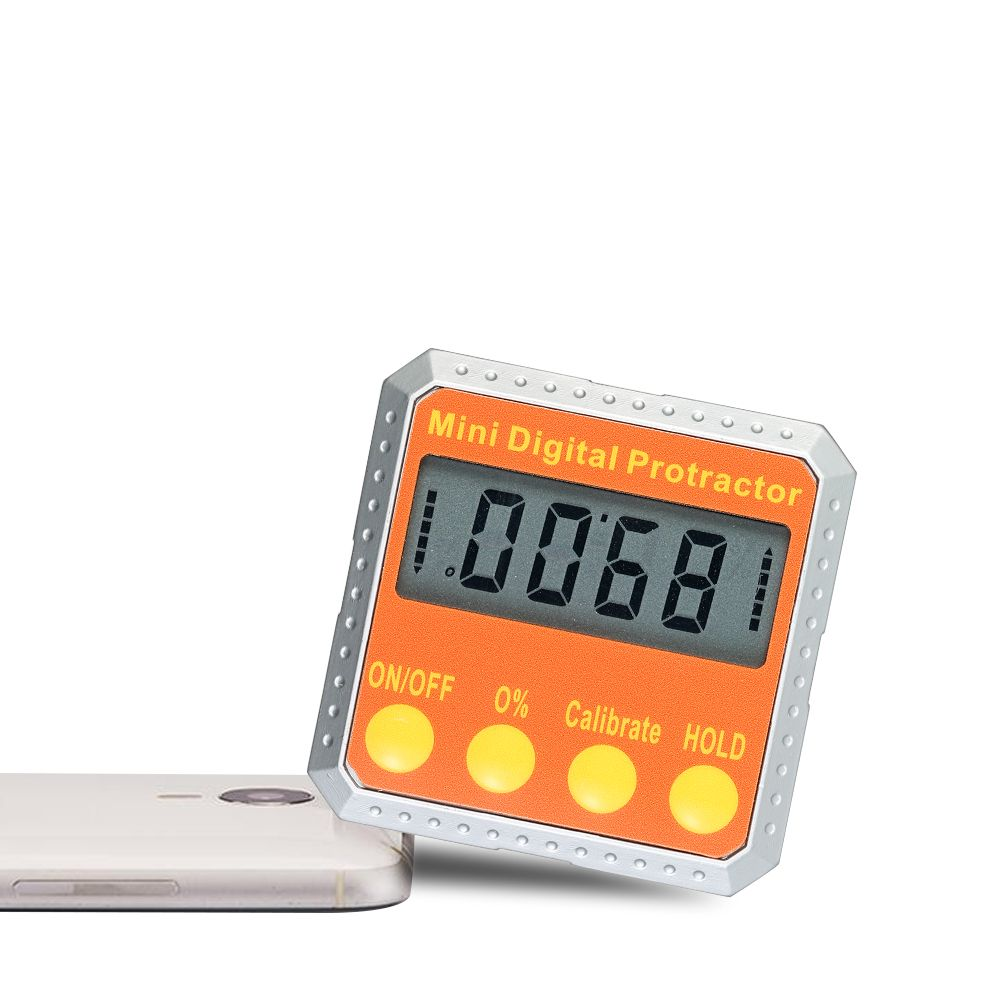 Digital Protractor Mini angle ruler Level / Bevel Gauge / Angle Gauge / Angle Finder angle measuring tool with Embedded Magnets