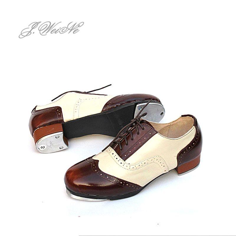 Männer tanzschuhe Sneakers Sport Frauen Echtes Leder Tap Schuhe Farbabgleich Spitze Atmungs Hochwertigen Aluminium Schuh Schwarz