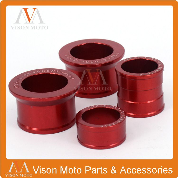 Billet Aluminum Front & Rear Wheel Hub Spacers For Honda CR125 CR250R CRF250R CRF250X CRF450R CRF450X Motocross Off Road