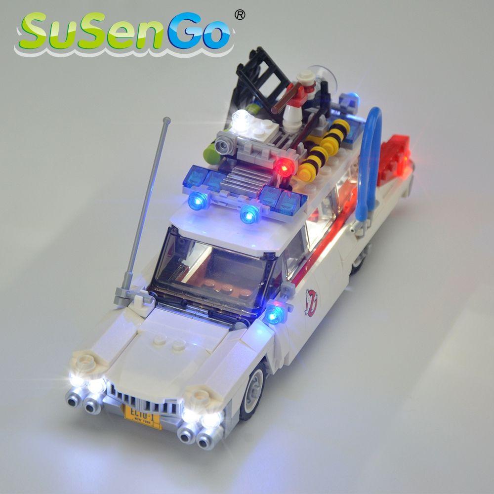 SuSenGo LED Lumière Kit Pour Ghostbusters Ecto-1 Compatible Avec Célèbre Marque Building Block Jouets Décorer Ensemble