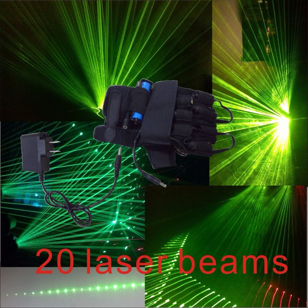 532nm green laser <font><b>beam</b></font> multi <font><b>beam</b></font> laser gloves luminous glove stage props DJ night special props