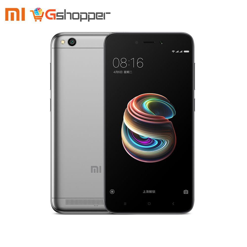 Global Version Xiaomi Redmi 5A 2GB 16GB MIUI 9 Smartphone Snapdragon 425 Quad Core 5.0 Inch HD Display 13.0MP Camera