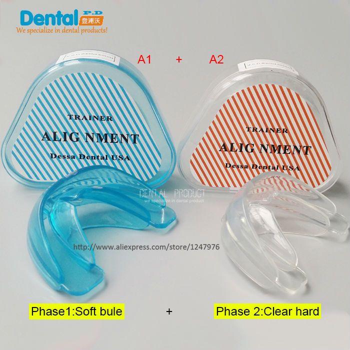 Nouveau 2 Pcs/lot dent dentaire appareil orthodontique formateur alignement bretelles embouchures en vente soins des dents