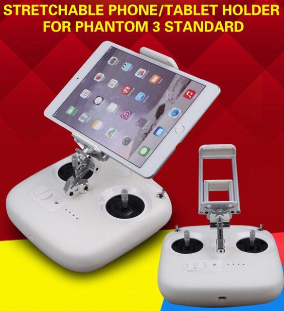 JMT Remote Controller Stretchable Smartphone Tablet Holder Bracket Extended Clamp for DJI Phantom 3 Standard
