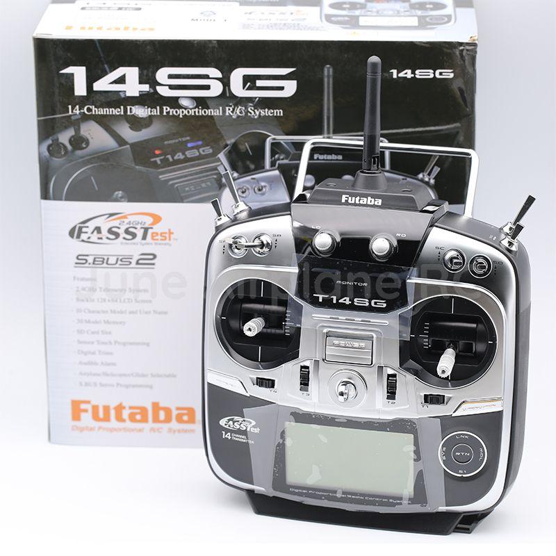 Futaba 14SG 2,4 Ghz FASSTest 14ch Sender & R7008SB HV Empfänger für RC Hubschrauber Multicopter Modus 2