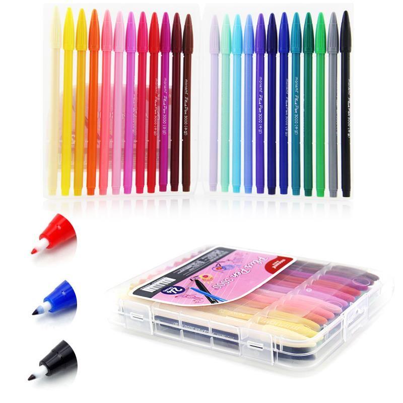 DIY corea de Dibujos Animados de Dibujo de Colores de Tinta a Base de Agua Letras Graffiti Sketch Marker 0.4mm Pluma De Tinta 12/24/36 Colores Materiales de Arte