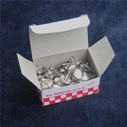 85 pcs/boîte haute qualité métal thumb tack Bureau Fournitures punaise Scène affiche push pin pins