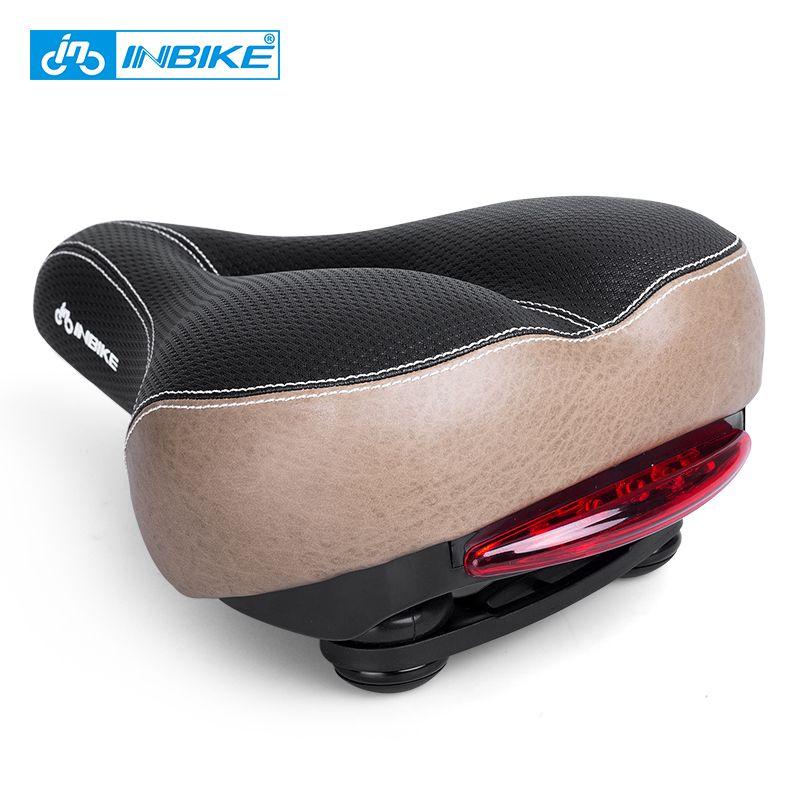 Inbike fahrrad sattel mit rücklicht erweitern mtb sattel kissen rennrad sitz stoßfest fahrradteile an040