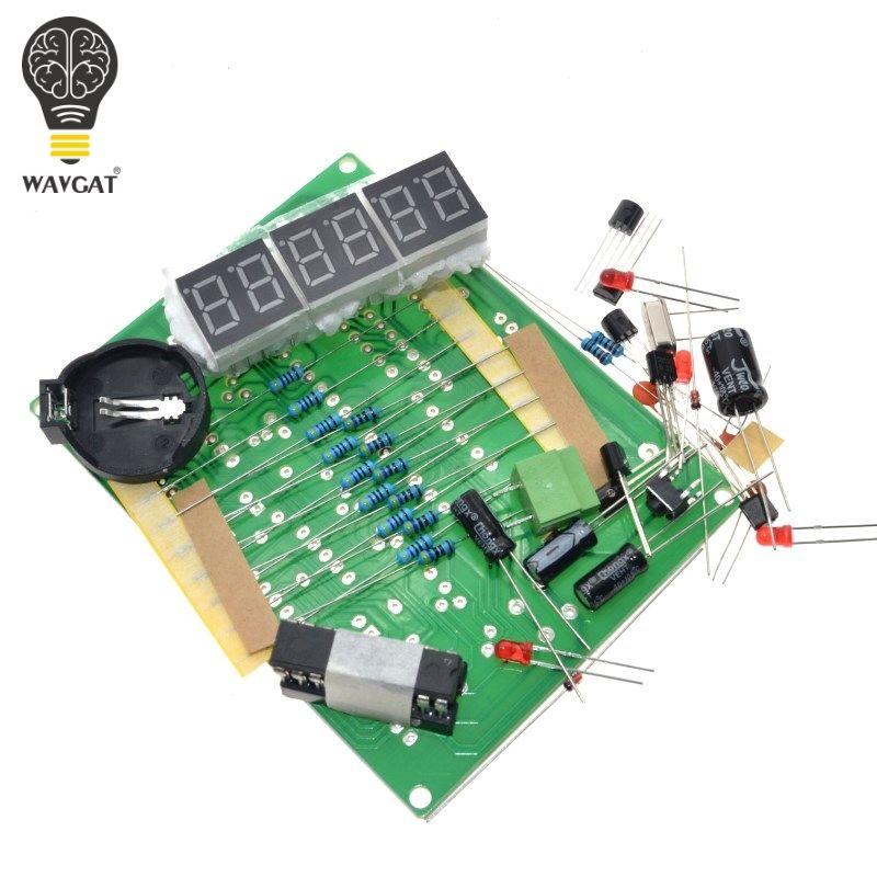 DIY Kits AT89C2051 Elektronische Uhr Digital Rohr LED Display Suite Elektronische Modul Teile und Komponenten DC 9 V-12 V
