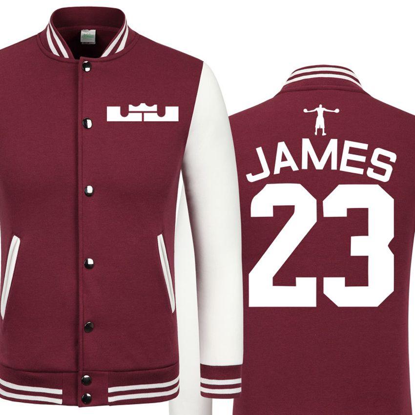 2016 г. Весна Новая повседневная куртка Кавальерс Леброн Джеймс недорогие мужские зимние куртки мужские пальто колледж куртка Куртка для мал...