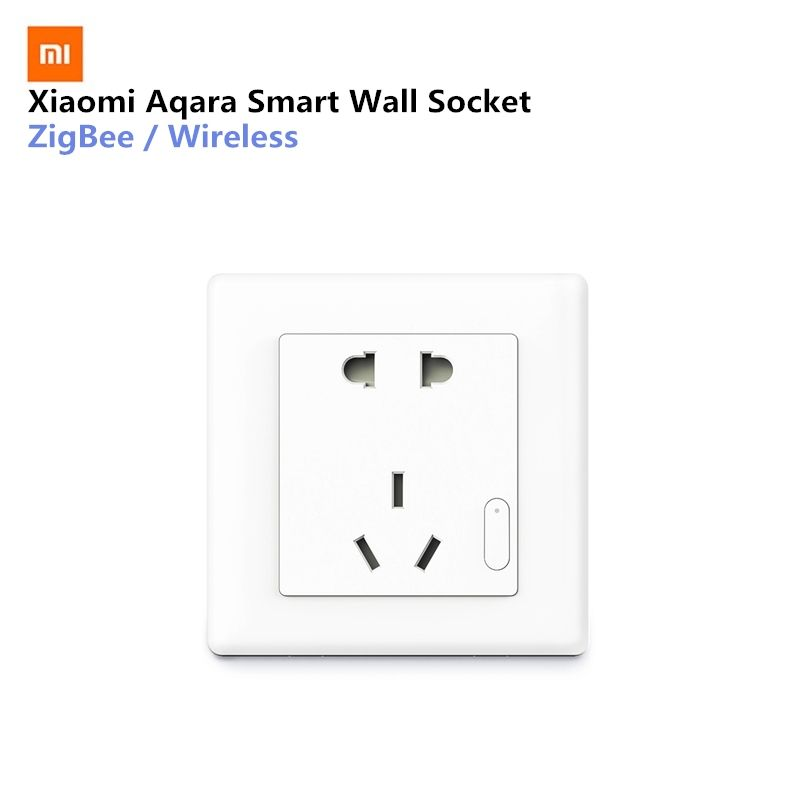 Xiaomi Aqara Smart Wall Socket ZigBee Wireless Mijia Wall Socket Switch Work For Xiaomi Smart Home Kits APP