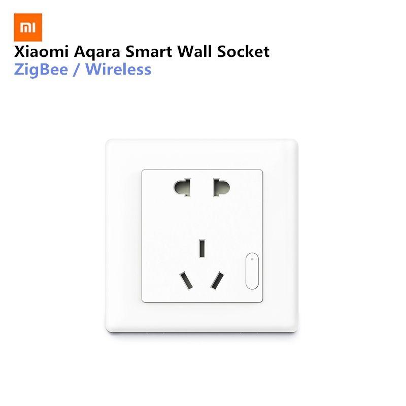 Xiaomi Aqara Smart Wall Socket ZigBee Wireless Mijia Wall Socket Switch Work For Xiaomi Smart Home Kits APP