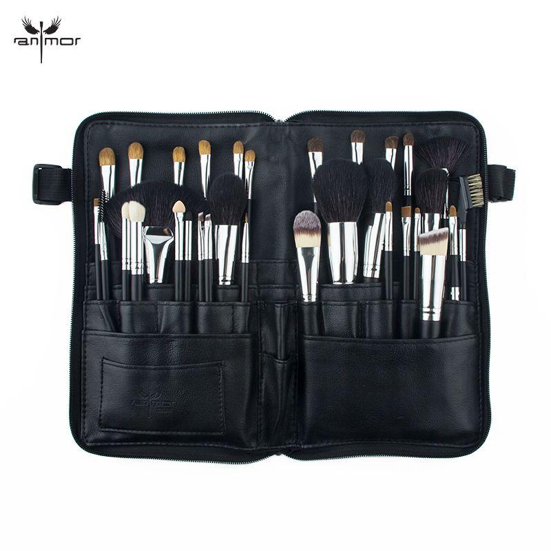 Anmor Professionelle 32 STÜCKE Make-Up Pinsel Set Natürliche Haar Bilden Bürsten Schwarz Makeup Tools Mit Tasche HOS001
