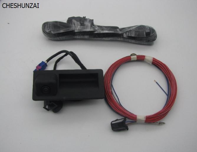Cheshunzai RGB заднего вида Камера РВК для Гольф Plus Jetta MK5 MK6 VI Tiguan Passat B7 RNS510 RCD510 18D /56D 827 566a
