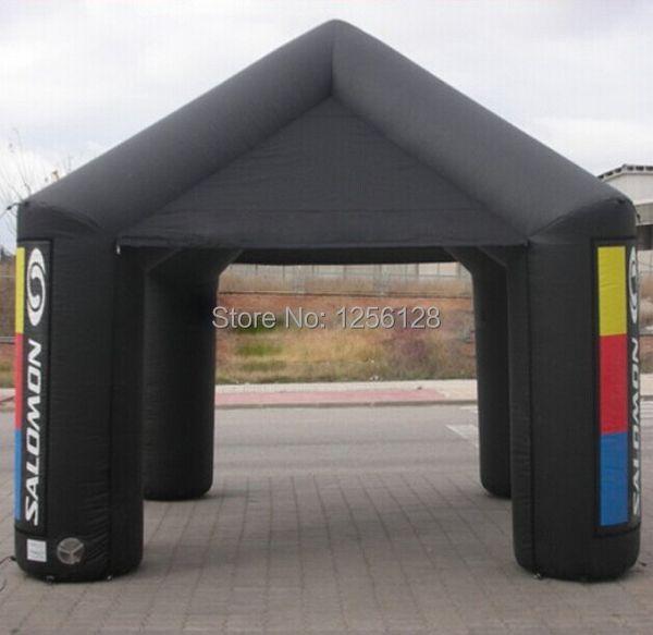 Kundenspezifischen Tragbaren Schwarz Werbung Aufblasbare Vordach/Aufblasbare Platz Zelt Mit Fan