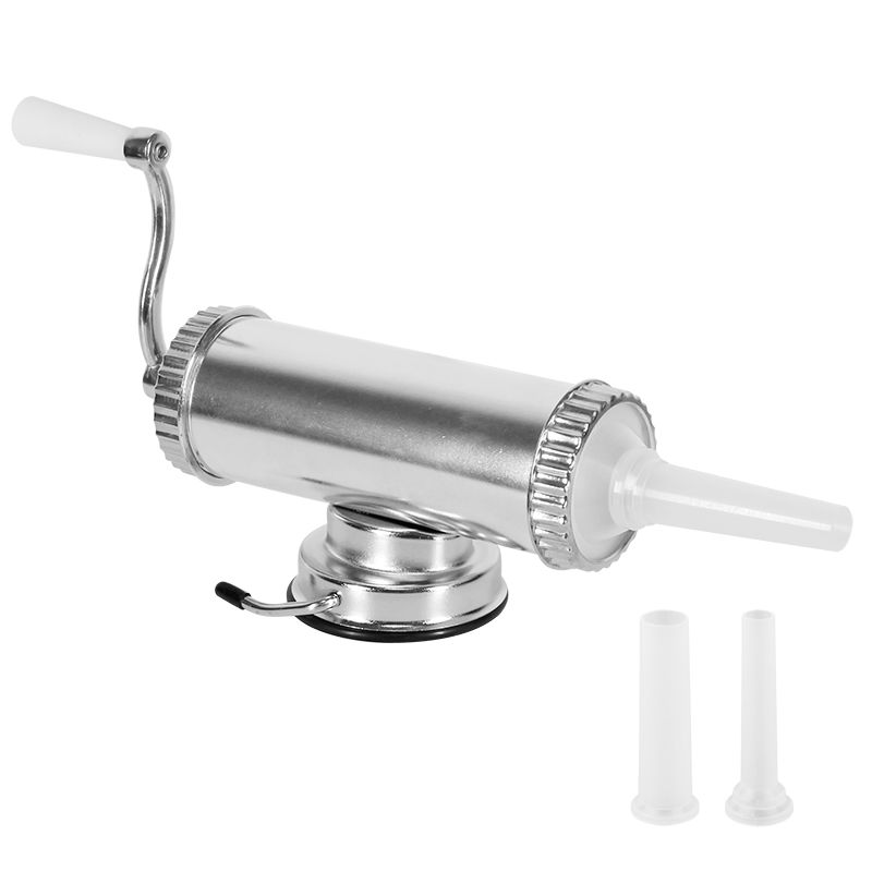 1KG / 2LBS Hand Operated Sausage Meat Stuffer With Suction Base Homemade Sausage Filler Aluminum Manual Salami Sausage Maker