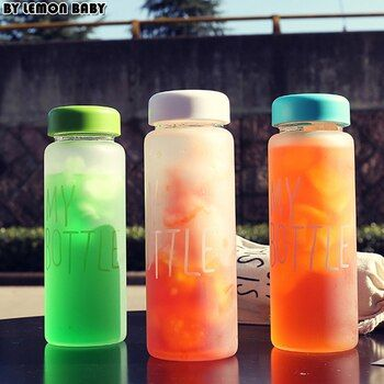 500ml Frosted Portable Seal Bottles Plastic Sports Water Bottle Leak-proof Bike Outdoor Climbing Gift High Quality SBY8011