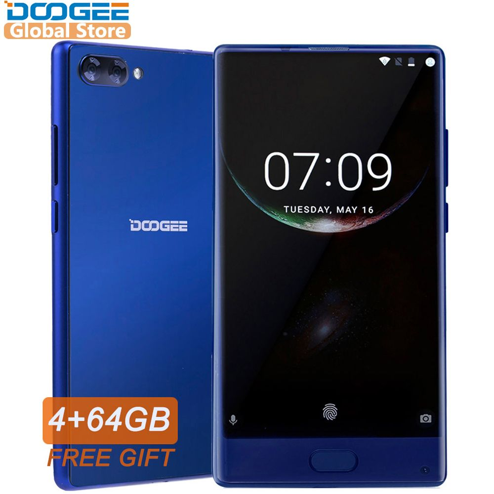 In Stock Original DOOGEE MIX Smartphone Android 7.0 Dual Cameras 5.5Inch MTK Helio P25 Octa Core 4GB+64GB LTE Smartphone 3380mAh