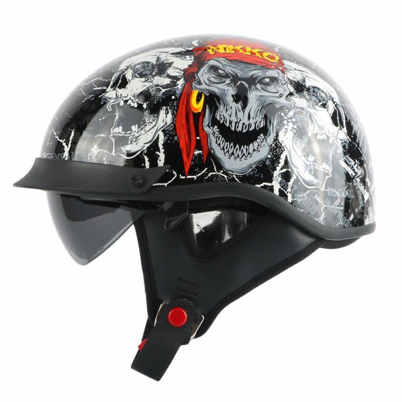 THH T72 helmet half helmet motocross with internal sunglass Popular Harley Style motorbike Chopper bike retro helmet DOT