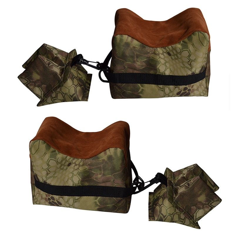 Portable Camouflage tir arrière pistolet reste sac Set avant et arrière fusil cible banc de chasse Stand non rempli accessoires de pistolet de chasse
