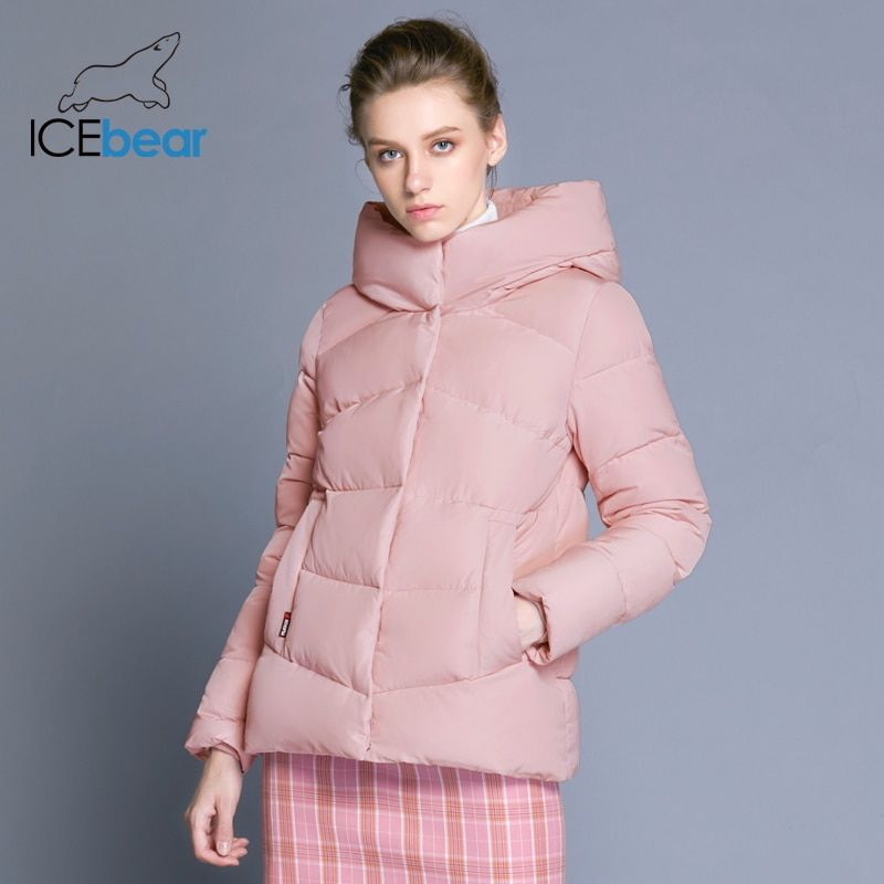 ICEbear2018 neue frauen mit kapuze winter baumwolle kleidung winddicht warme frau kleidung mode jacke weibliche marke mantel GWD18088D