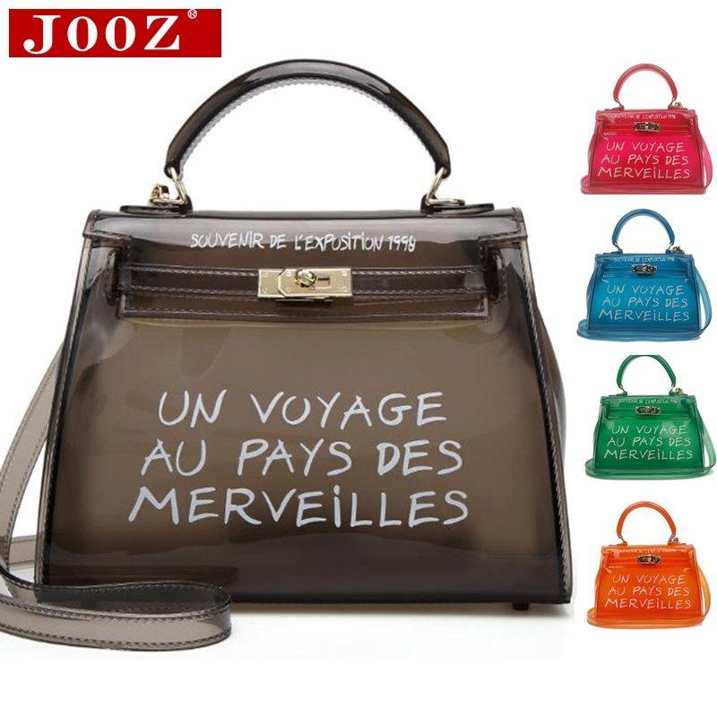 Transparent Transparent PVC sacs à bandoulière femmes couleur bonbon femmes gelée sacs sac à main couleur unie sacs à main sac à main femme sac à bandoulière
