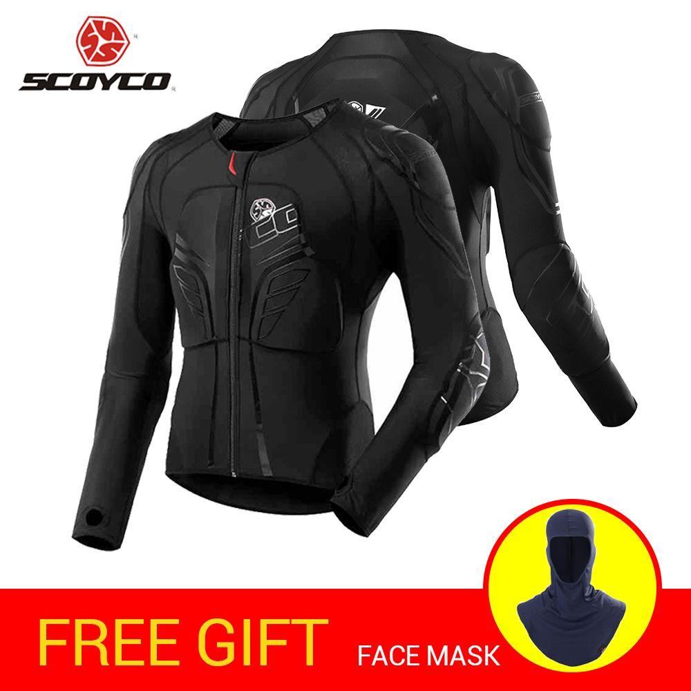 SCOYCO Motorrad Jacke Motocross Schutz Getriebe Moto Jacke Motorrad Rüstung Racing Körper Rüstung Schwarz Moto Rüstung