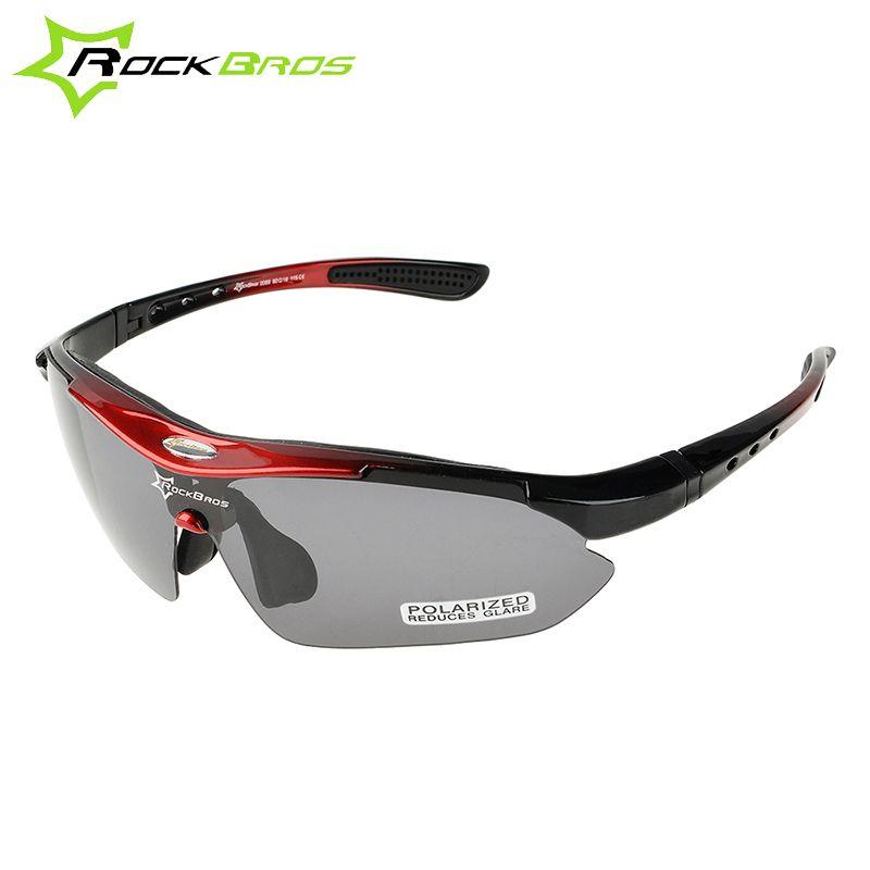 ROCKBROS 100% lunettes de soleil polarisées lunettes de vélo 5 lentilles vtt vélo de route Sports de plein air course cyclisme lunettes de soleil lunettes 29g