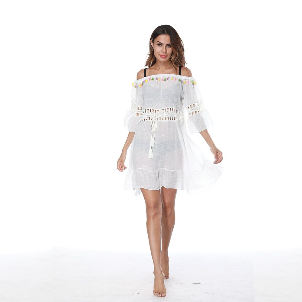 Knitted Pareo Beach 2017 New Bathing suit Cover ups Hollow Sexy Swimsuit Cover up Beachwear Cover-Ups Beach Dress Tunic Robe