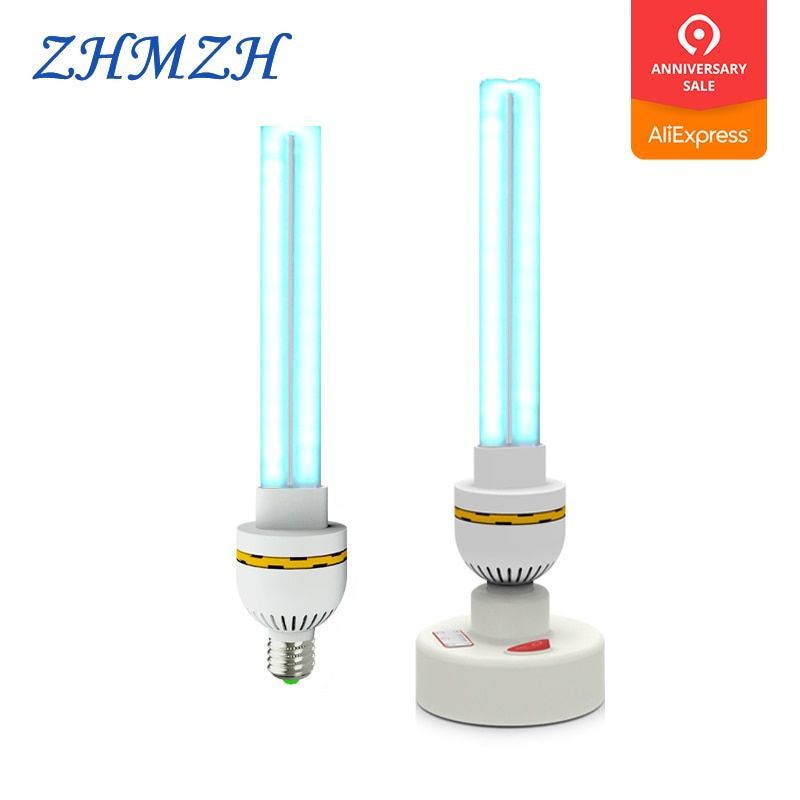 220 V UVC Ultraviolet lampe germicide E27 Ménage Stérilisation Lampes UV Désinfection Lumières 15 W 20 W 30 W Haute D'ozone stérilisateur
