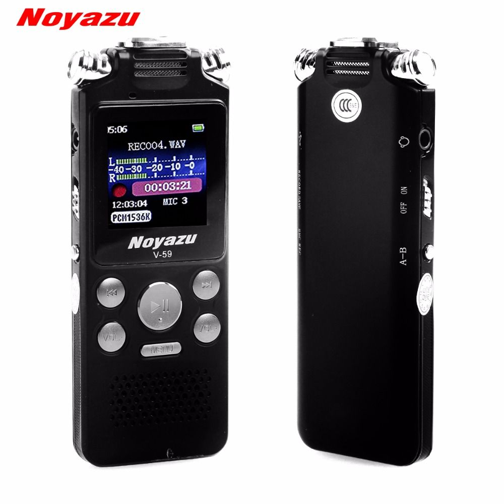 NOYAZU Fast Charging 16G Two-way Microphone Sound Recording Digital Audio Voice Recorder Noise Reduction Professional Mp3 Player