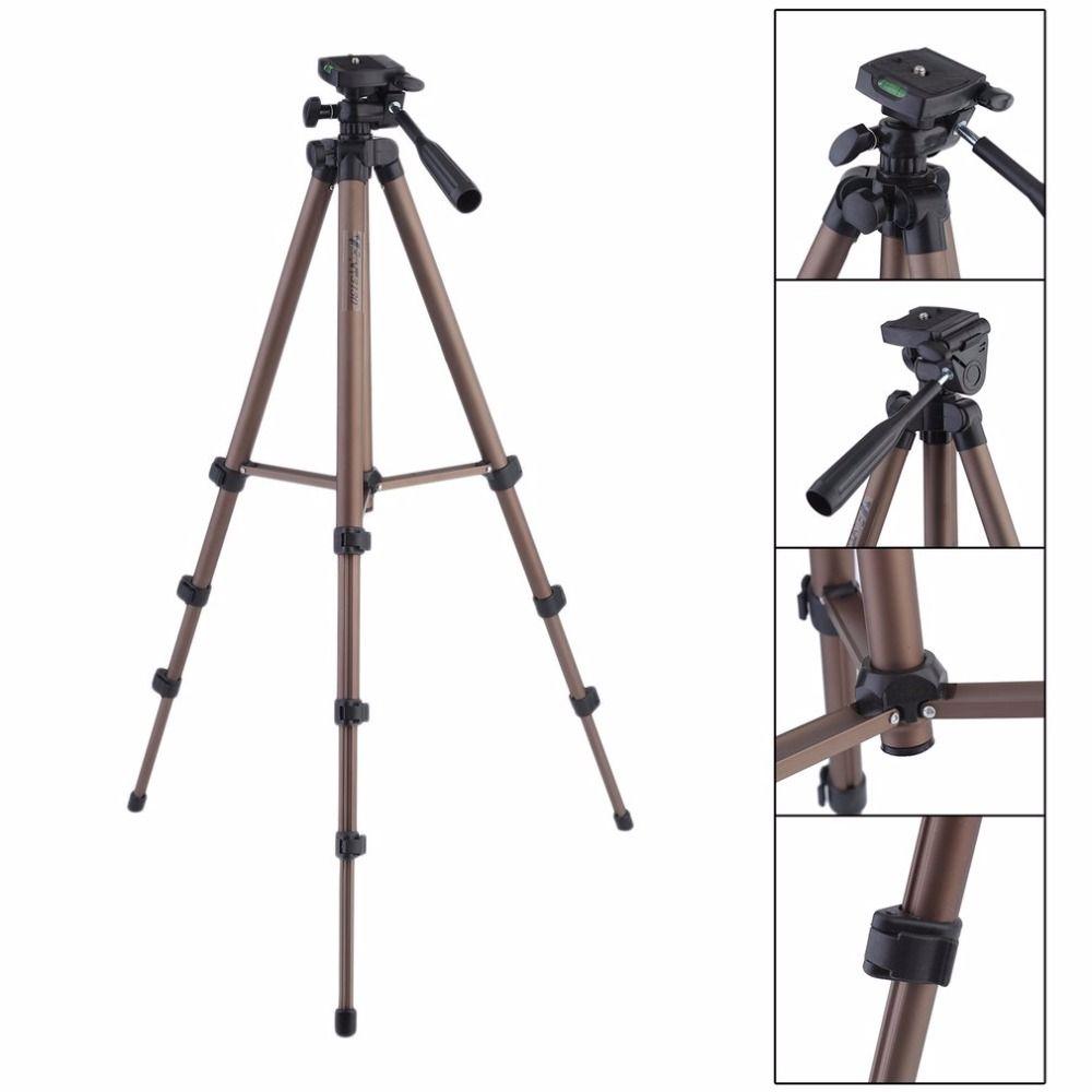 Leshp wt3130 Алюминий сплав Камера штатив с коромысла для Canon Nikon Sony Зеркальные фотокамеры Видеокамеры легкий мини-штатив