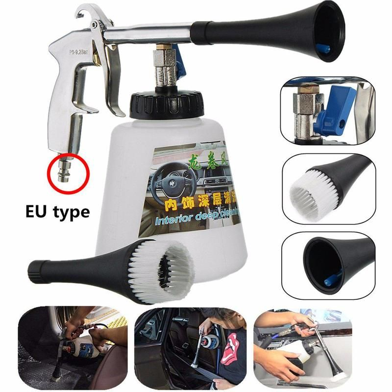Car Cleaning Gun Auto Interior Dry Deep Clean Washing Gun For Cockpit Care Cars Air Operated Wash Equipment