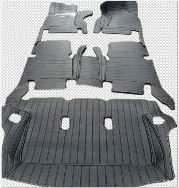 Spezielle fußmatten + kofferraum matte für Rechts/Links hand stick Toyota Fortuner 7 sitze 2018-2015 wasserdicht teppiche, freies verschiffen