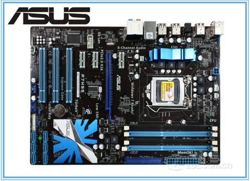 Carte mère ASUS originale P7H55 conseils LGA 1156 DDR3 pour i3 i5 i7 cpu 16 GB USB2.0 H55 Bureau carte mère Livraison gratuite