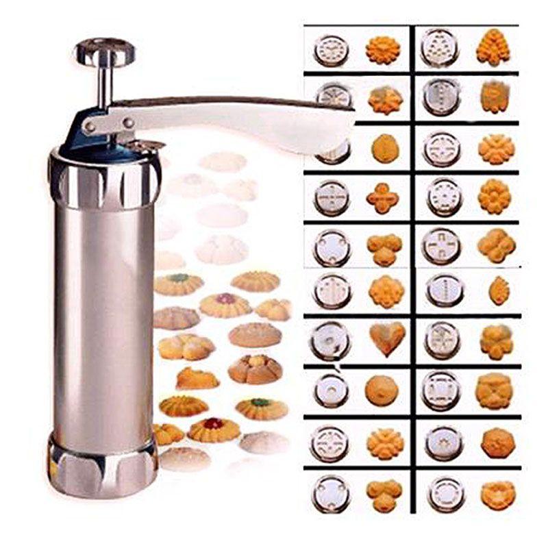 Emporte-pièce crème injecteur Biscuit Cookie presse Machine gâteau moules cuisine ustensiles de cuisson avec 20 moules à biscuits et 4 buses