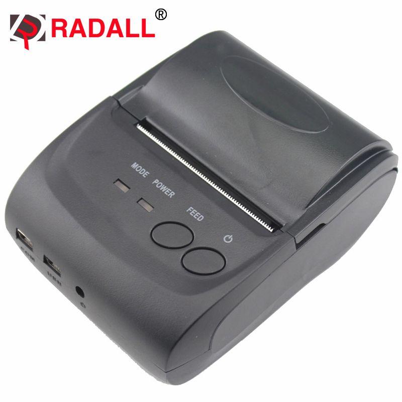 RD-5802LD мини bluetooth wireless термопринтер 58 мм чековый принтер с карман размер для ресторана Поддержка Android