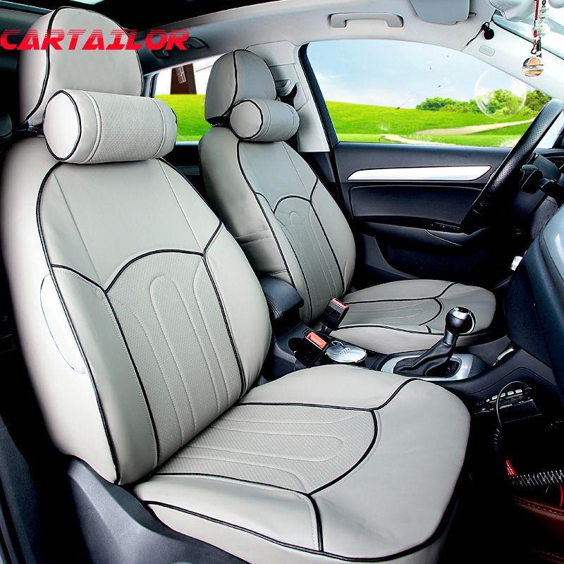 CARTAILOR PU leder auto sitze für Mini Clubman autos sitzbezüge & unterstützt schwarz auto sitzkissen innen zubehör