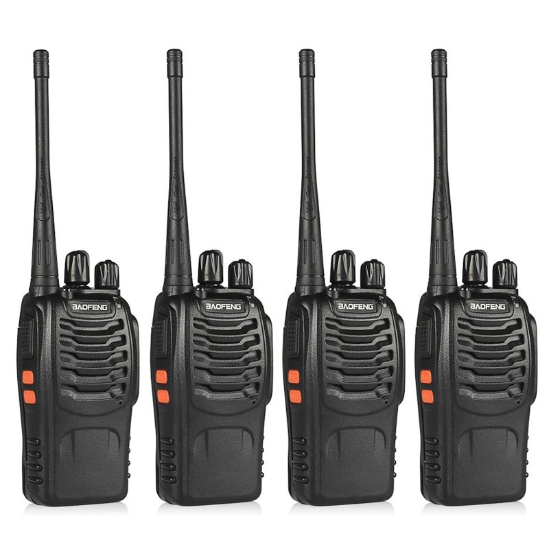 4 pcs BaoFeng BF-888S Talkie Walkie UHF400-470MHZ Portable Jambon baofeng 888 s CB Radio