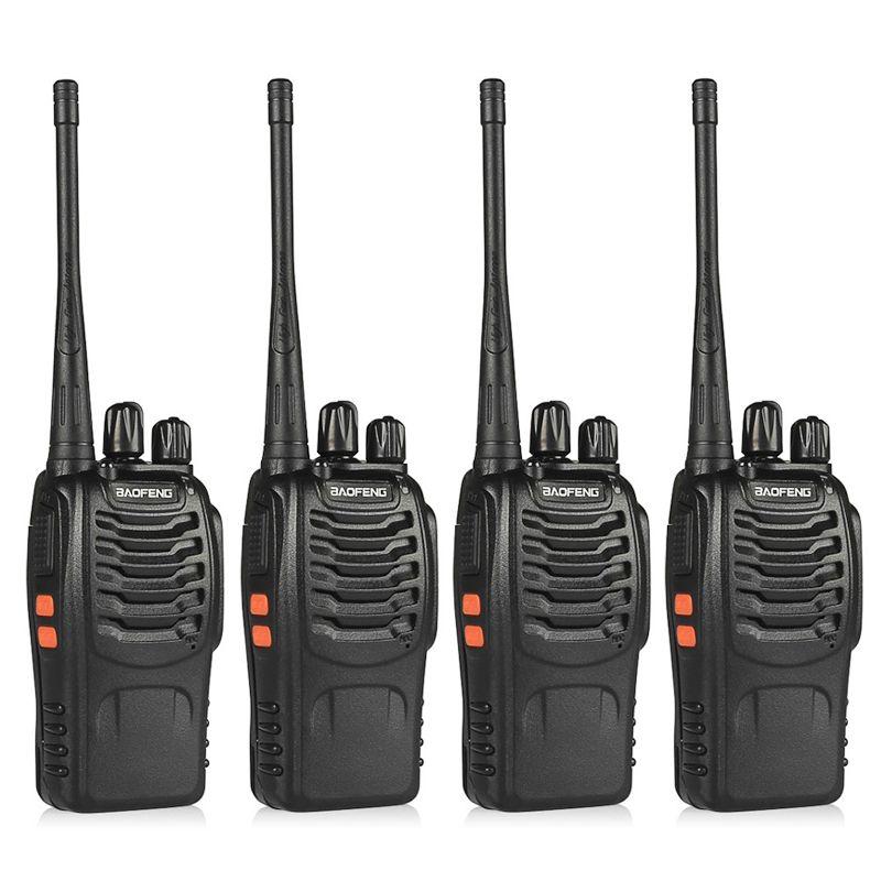 4 pièces BaoFeng BF-888S talkie-walkie UHF400-470MHZ jambon Portable baofeng 888s CB Radio