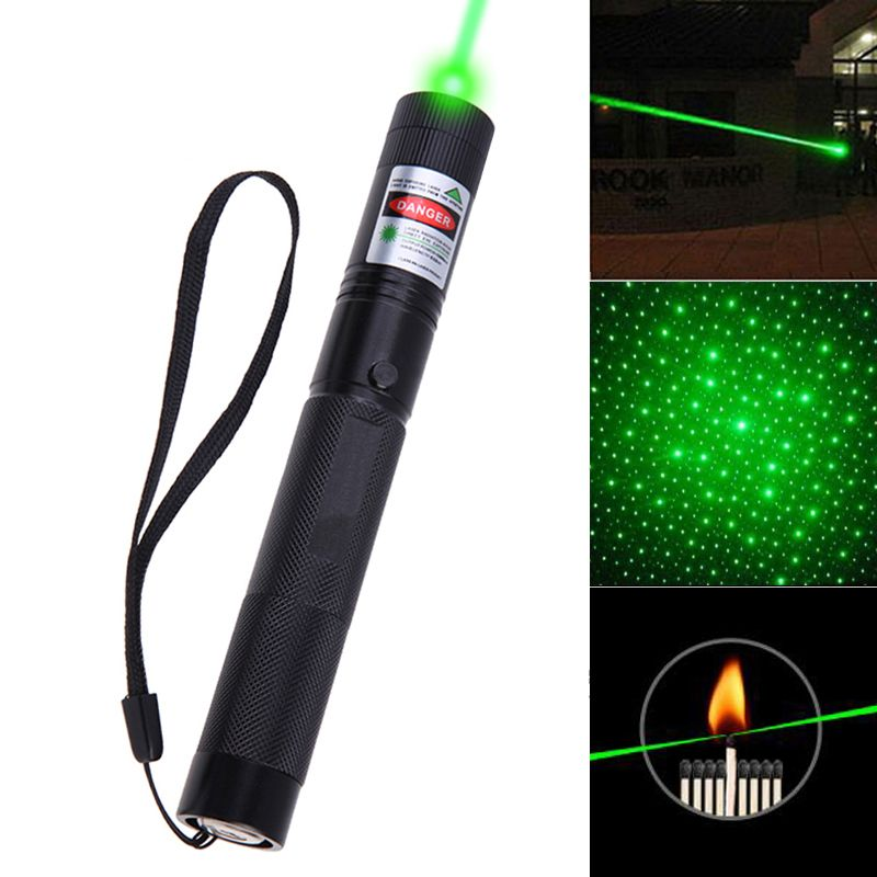 8000-10000 Meters Powerful Green Laser  Pointer stars 5mw Military 532nm With Star Cap flashlight Adjustable Focus wholesale