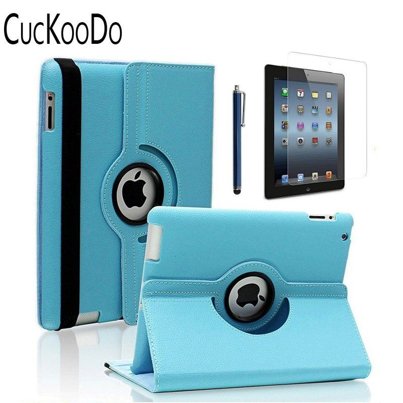 CucKooDo 360 degrés support rotatif housse de protection intelligente pour iPad avec écran Retina (iPad 4th), pour le nouvel iPad 3 & iPad 2