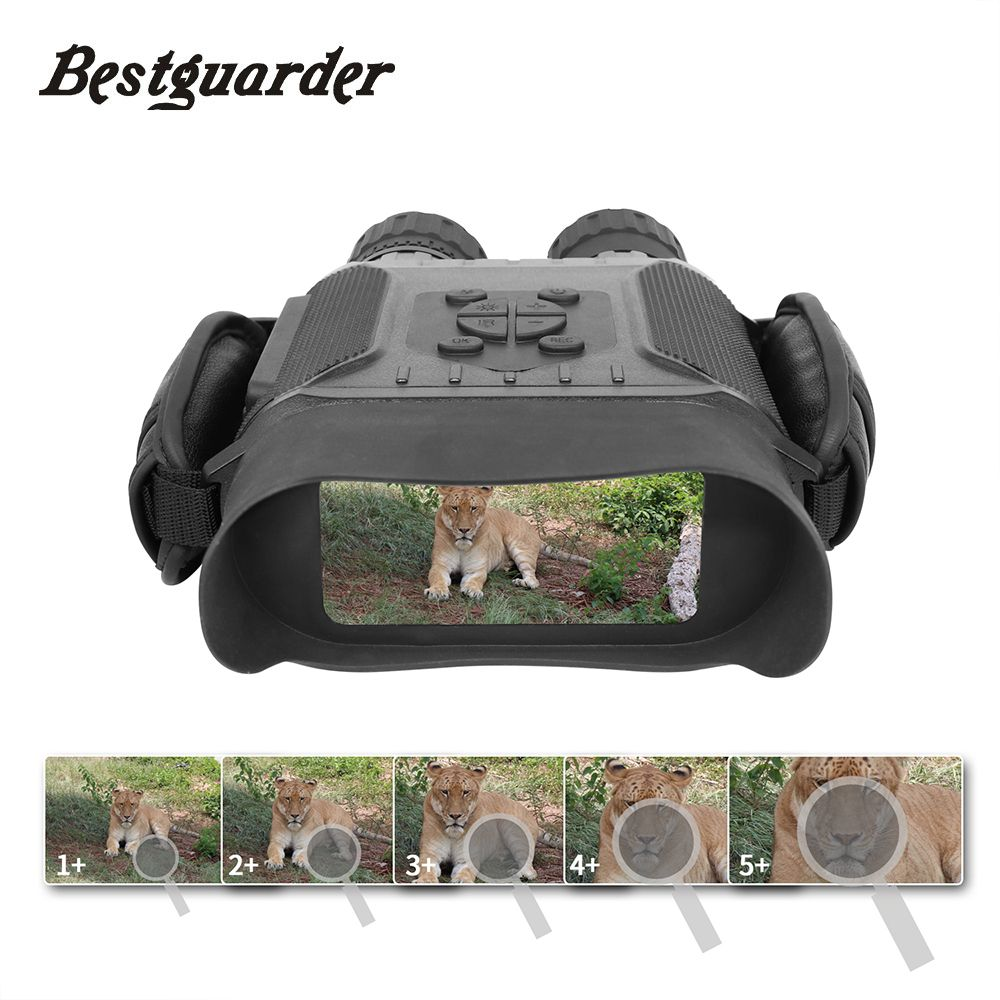 Bestguarder Night Vision Time Lapse Telescope Binoculars Hunting 400M Large Screen 5x Zoom 4.5X40mm 32G Infrared Monocular Gifts
