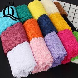 5 ярдов 8 см аксессуары для одежды изысканный цвет кружева качество ткани кружево с эластичным кружевом эластичный широкий 8 см эластичное к...