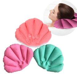 New Bathroom Products Home Spa Inflatable Bath Pillow Cups Shell Shaped Neck Bathtub CushionBathroom Accessories Random Color